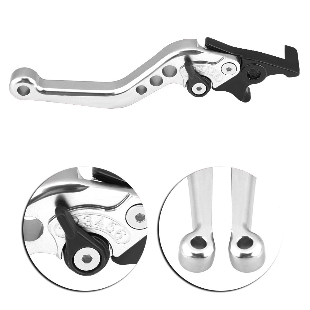 in lega di alluminio CNC Leva del freno per motocicletta e scooter default argento Duokon