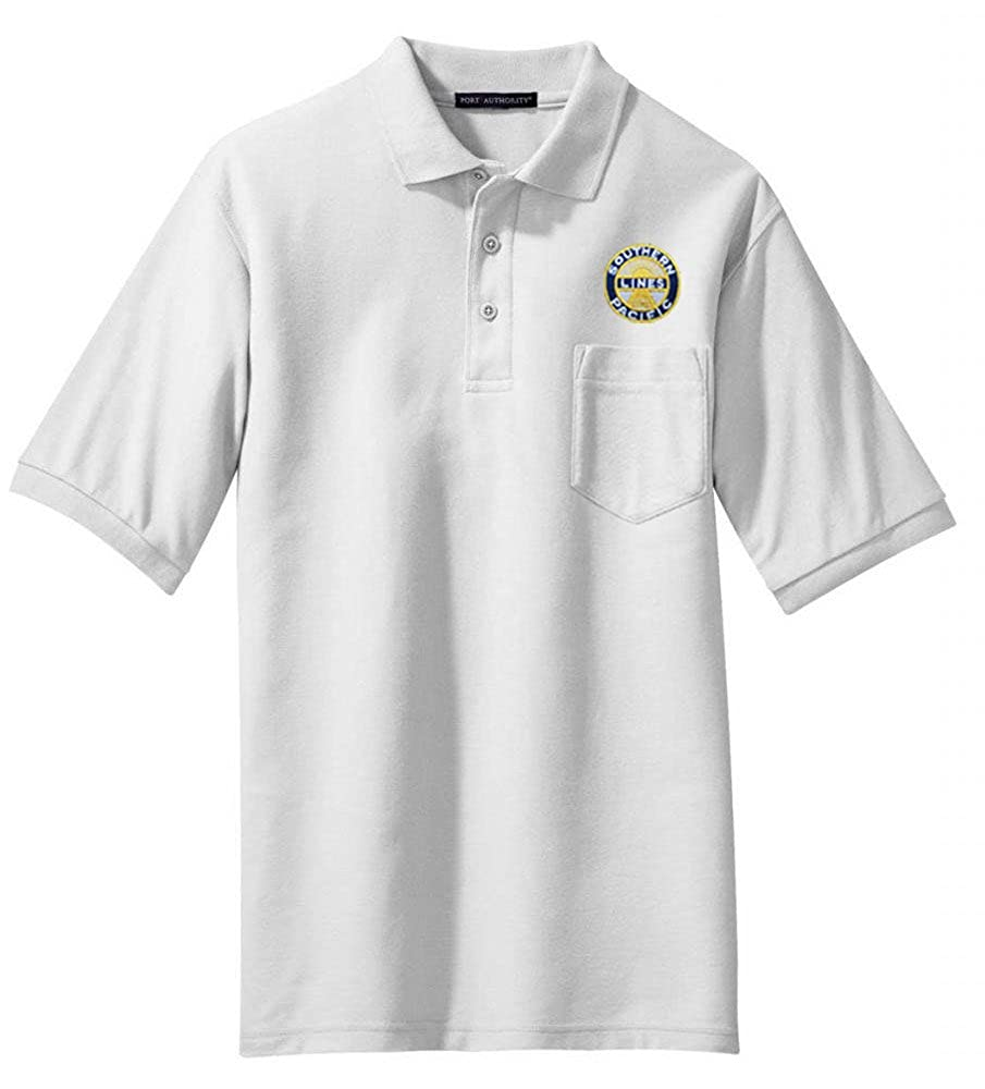 02 Southern Pacific Sunset Logo Embroidered Polo