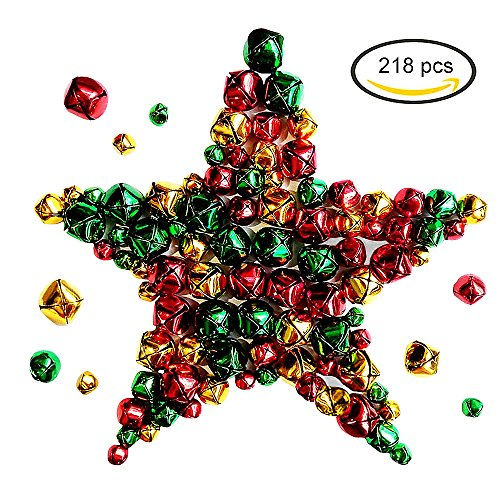 218 Pieces Jingle Bells Small Iron Craft Bells for Festival Party Decoration/Christmas Tree Decorations/DIY Crafts Accessories,3 Sizes (Bell Jingle Personalized)