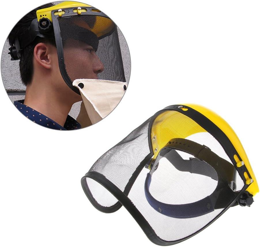 ZOUCY Visera de Malla Face Shield Browguard Ideal para cortadora de Cepillo Trimmer Strimmer Shield
