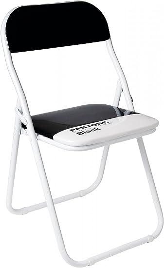 Sedie Pieghevoli Pantone Prezzo.Sedia Metallo Pieghevole Pantone Black Cm 44 H 46 79 Black