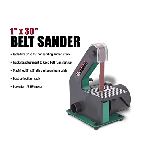 1in x 30in 1//3 HP Motor Bench-top Belt Sander Stock Removal Smoothing Tool NEW!!