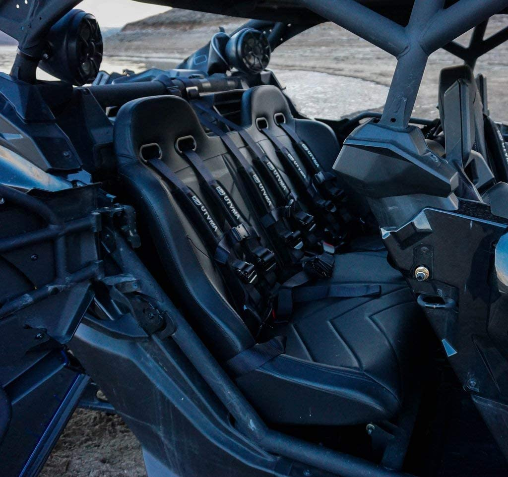 Amazon Com Maverick X3 Rear Bench Seat With 3 4 Point Harness Automotive