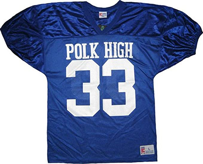 196e409bb Married with Children Al Bundy Polk High 33 Blue Football Jersey Costume  (Small)
