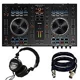 Denon DJ MC4000 2-Ch 2-Deck Serato DJ Controller - New. W/ Tascam TH02 and 2 XRL Cables.