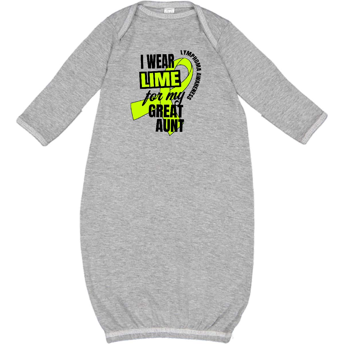 inktastic I Wear Lime for My Tia Lymphoma Awareness Long Sleeve Creeper