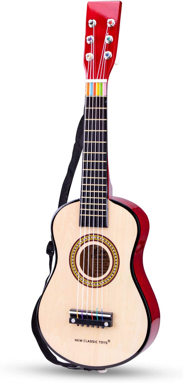 New Classic Toys New Classic Toys-10344 0344-Guitarra de Juguete, Natural, Color Naturel (Ref 0344)