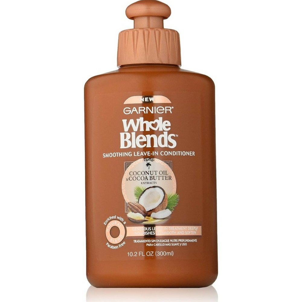 Garnier Whole Blends Coconut Oil and Cocoa Butter Leave-In Conditioner. Smoothing, Frizz-Control, Paraben-Free, 300 ml L'Oreal - Hair Care