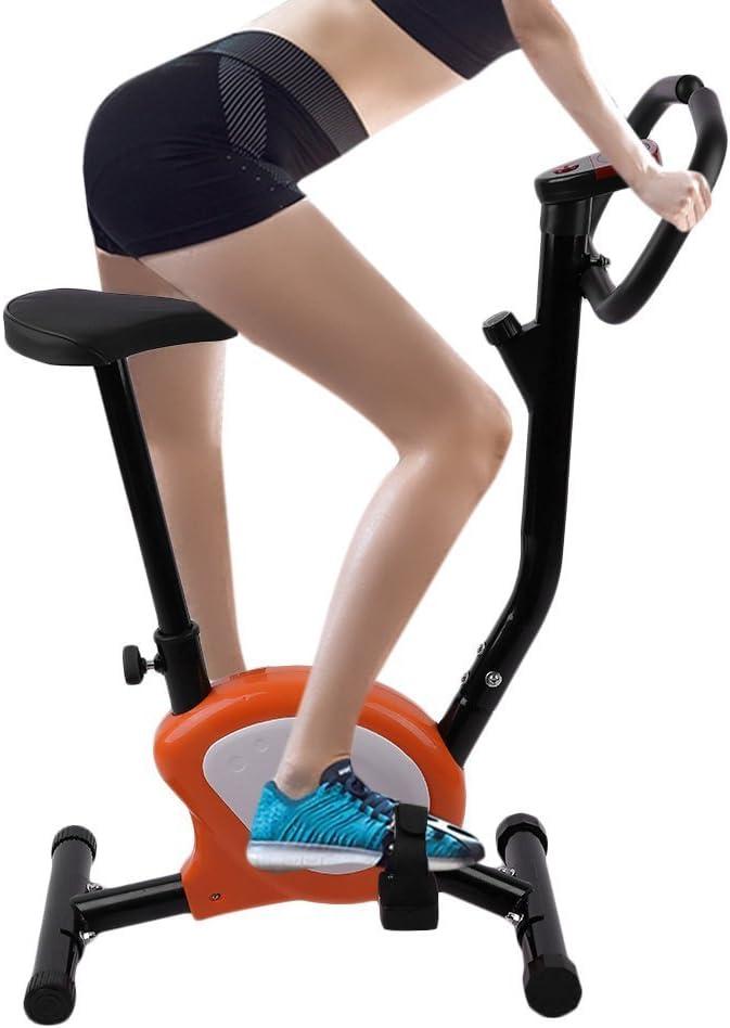 Bicicleta/Bicicleta Cardio/Bicicleta estática Fitness Piable con Pantalla LCD (Naranja)