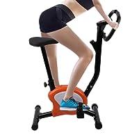 Cartknights Vélo d'Appartement/Cardio Vélo/Vélo d'Aappartement Fitness Piable Silencieux avec Écran LCD et la Fréquence Cardiaque, 110 kg Max, 41X61.5X97CM