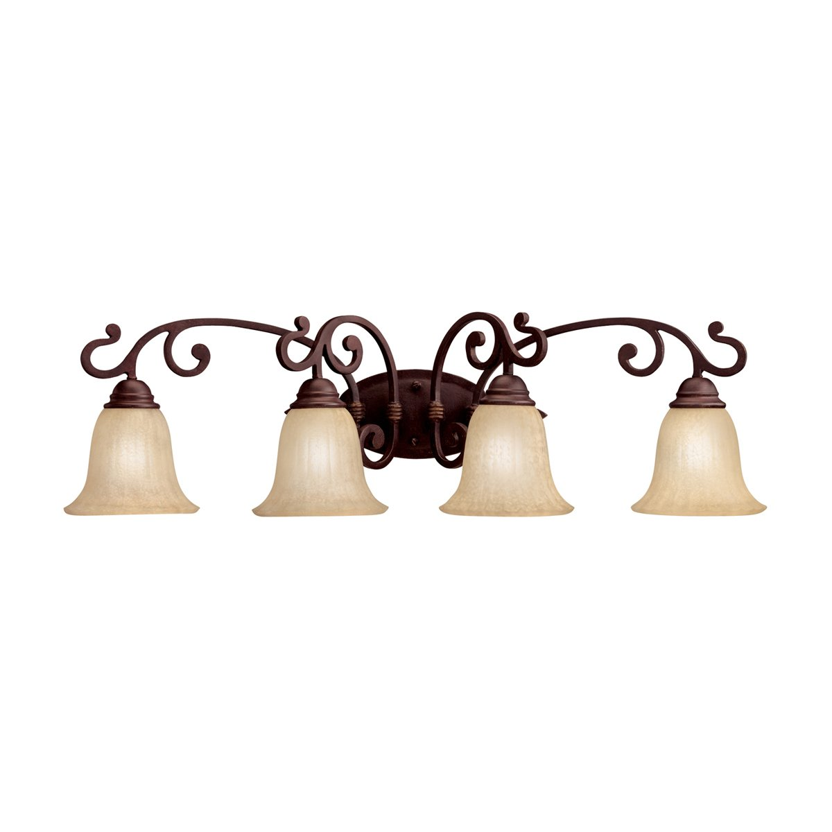 kichler 5990cz wilton bath 4 light carre bronze vanity lighting