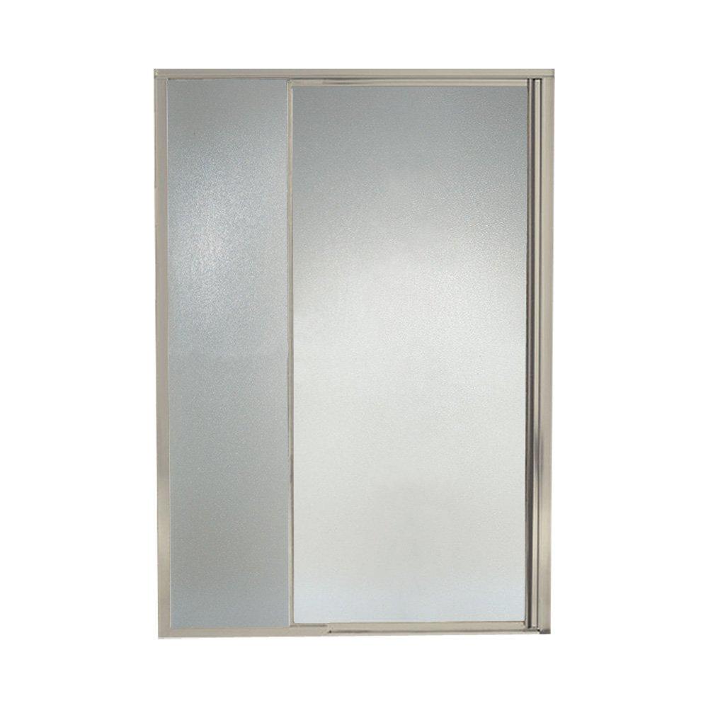 "Sterling Plumbing 1535D-48N-G10 Shower Door Pivot II 69""H x 42 - 48""W Pebbled Glass Nickel"