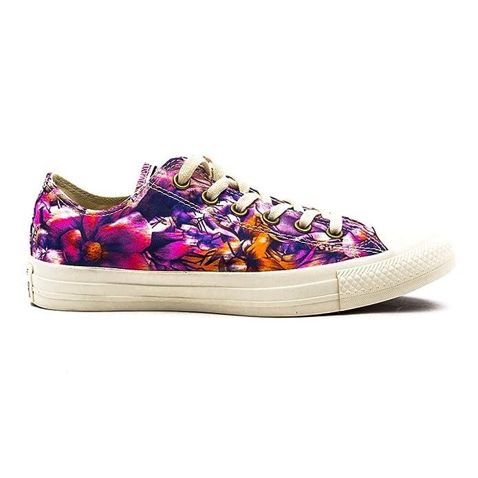 Converse Chuck Taylor (Chucks) All Star Ox Sneaker Unisex-Erwachsene Bunt Blumen