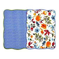 "Microfiber Dish Drying Mat 15""x20"" Florals Printing Best for Home & Kitchen By Bear Family- Pack of 2 (A)"