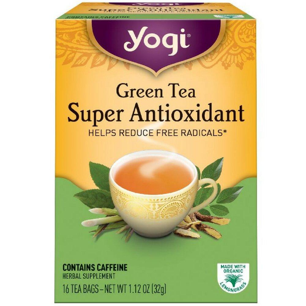Yogi Tea, Super Antioxidant Green Tea, 16 Count (Pack of 6), Packaging May Vary