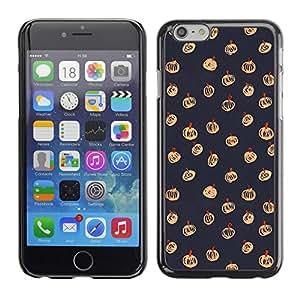 A-type Arte & diseño plástico duro Fundas Cover Cubre Hard Case Cover para Apple (5.5 inches!!!) iPhone 6+ Plus / 6S+ Plus ( Halloween Autumn Fall Grey Pattern)