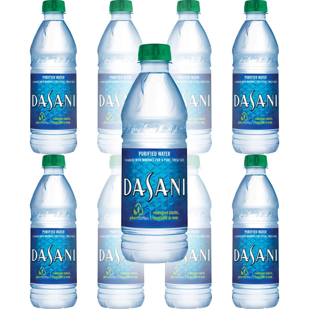 Dasani Water, Enhanced With Minerals, 16.9 Fl Oz Bottle (Pack of 8, Total of 135.2 Fl Oz)