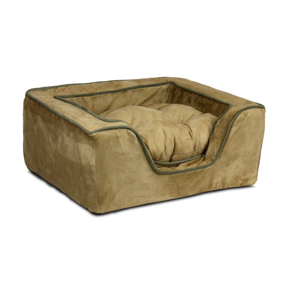 X-Large Snoozer 21480 X-Large Luxury Square Pet Bed, Camel Olive