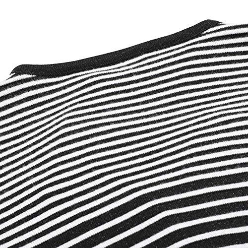Autunno Autunno Autunno Maglia Maglioni Moda Libero Donna Donna Donna Donna Schwarz Cappotto Confortevole Nvfshreu Elegante Lunga Calda Maglioni Tempo Lunghi Manica A A Righe Outerwear AqET6