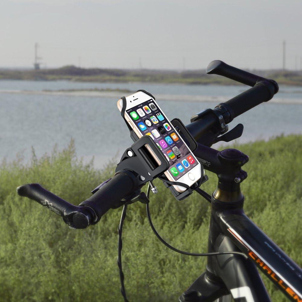 VicTsing Soporte de Móvil para Bicicletas y Motos Universal Ultra Estable, sujeción 360 Rotación para Todos los moviles Huawei,XIAOMI, iPhone,Galaxy etc: Amazon.es: Electrónica