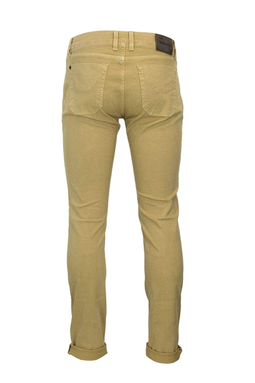 Jeckerson Mens 34PCJUPA07ST17881YELLOW Yellow Cotton Pants