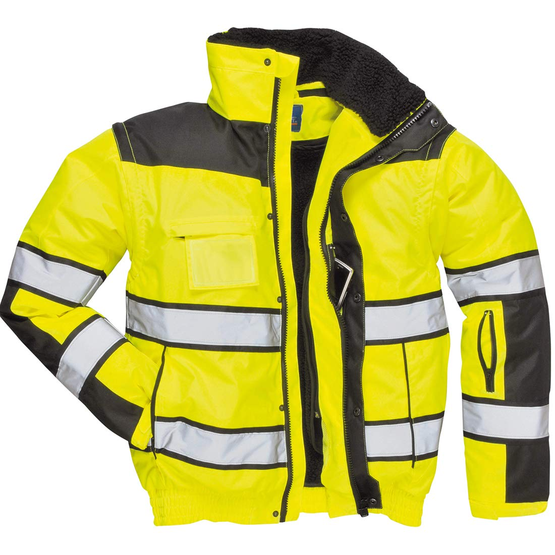 Portwest UC466YBRXXXL Regular Fit Hi-Vis Classic Bomber Jacket, 3X-Large, Yellow/Black by Portwest