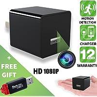 Hidden Camera - Spy Camera - Motion Detection - HD 1080P - USB Hidden Camera - Surveillance Camera - Mini spy Camera - Nanny Camera - Best Spy Camera Charger - Hidden Camera Charger - Improved 2018v2