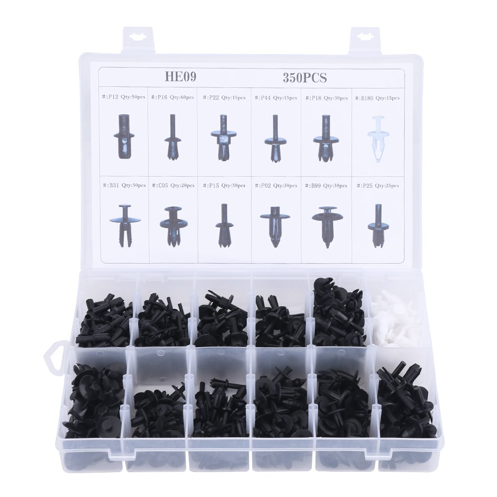 EBTOOLS Auto Clips Assortment Retainer Set 415Pcs Car Retainer Clips with Car Panel Removal Tool Fastener Remover Assorted Car Body Plastic Push Pin for GM Ford Toyota Honda Chrysler