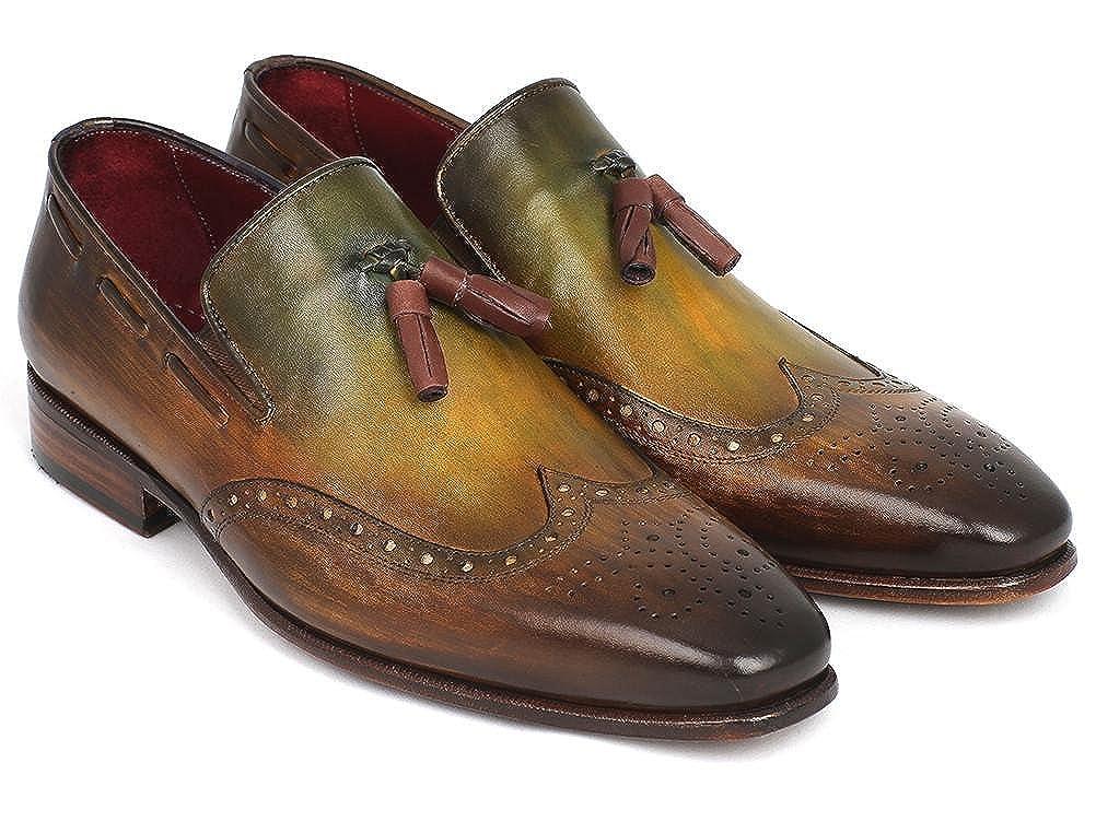 - Paul Parkman Men's Wingtip Tassel Loafers Green