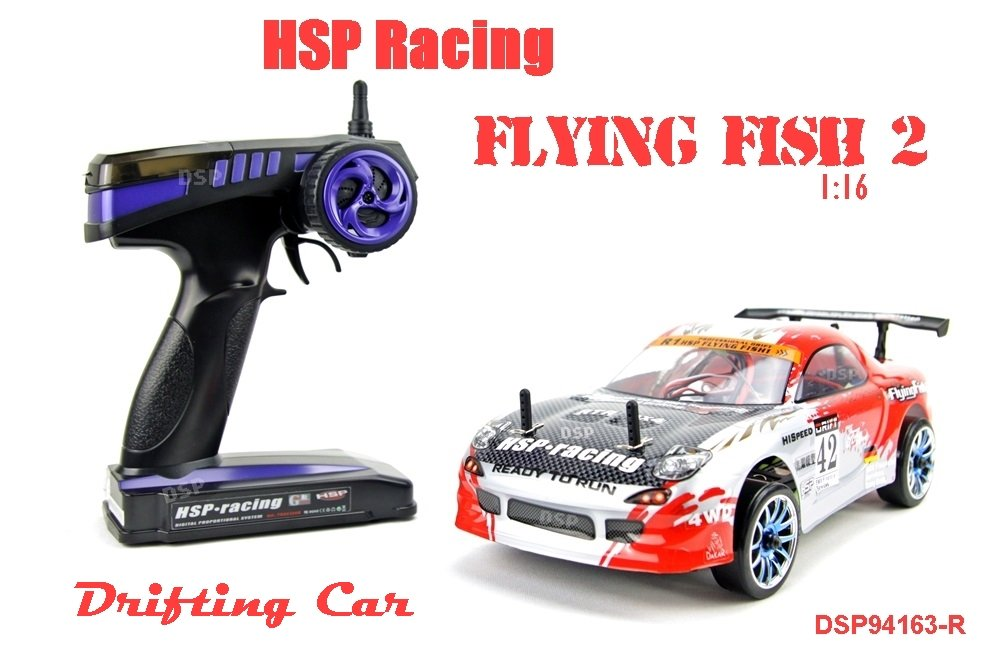 RC AUTO 94163 NCC®HSP DRIFTING CAR FLYING FISH 2 - 1/16 IN ROT