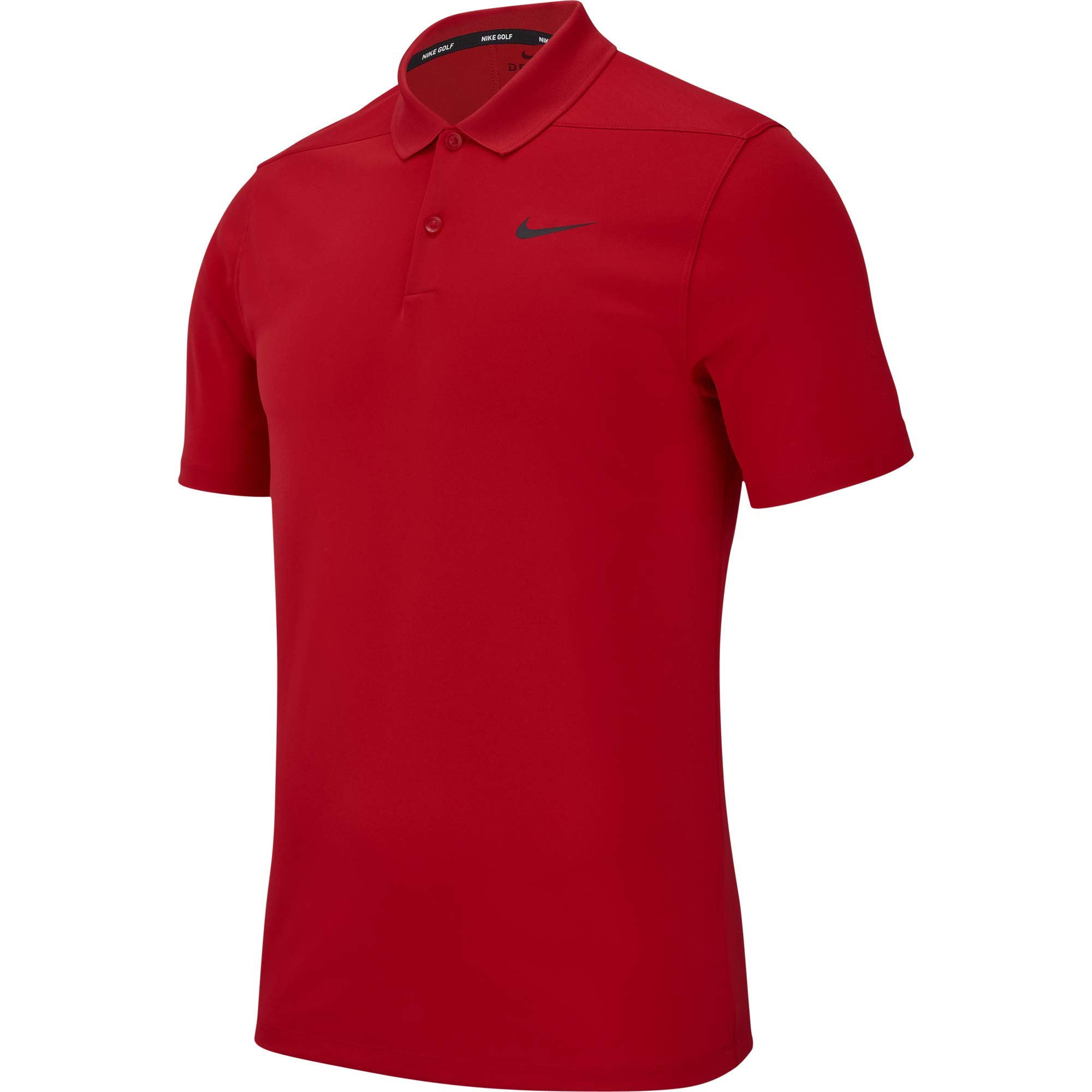 Nike Men's Dry Victory Polo Solid Left Chest, University Red/Black, Medium by Nike