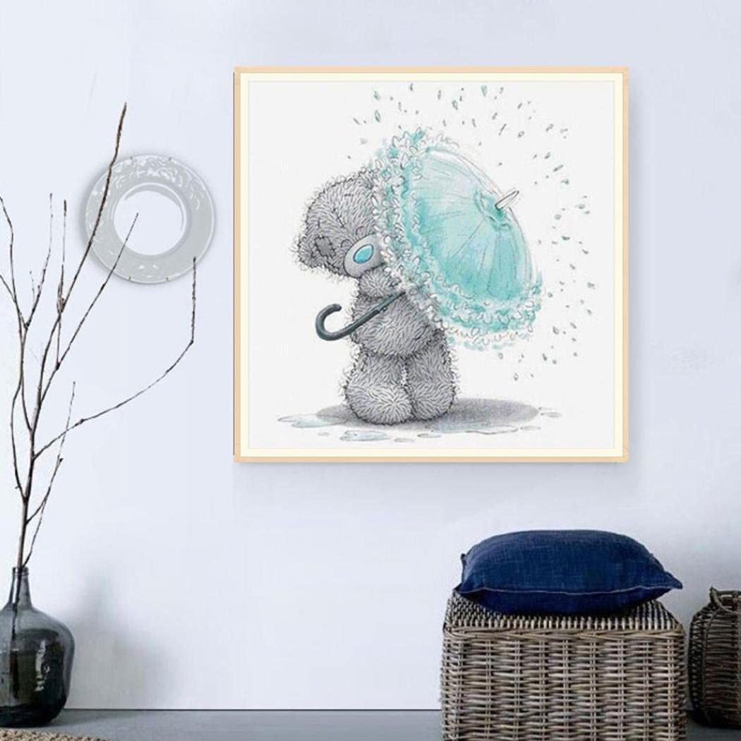 Bear 4 Staron Hot Sale Diamond Cross Stitch Painting Number Kit 5D Diamond Crystal Rhinestone Pasted Embroidery Painting DIY Craft Home Wall Decor Heart Bear DIY 5D Diamond Painting