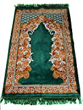 Prayer Rug Carpet Islamic Muslim Salah Meditation Mat Turkish Exquisite Green