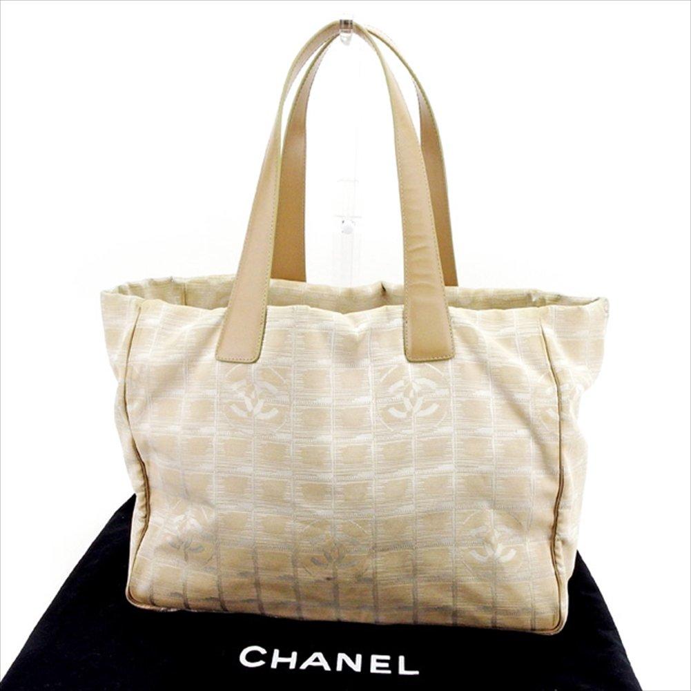 (シャネル) Chanel トートバッグ トート ショルダーバッグ ベージュ×ゴールド トートMM ニュートラベルライン レディース メンズ 可 中古 T2514   B0772PYV6X