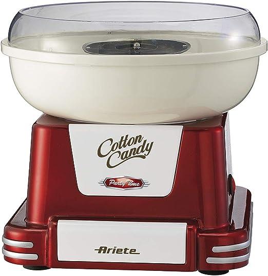 Ariete 2971 Máquina de Algodón de Azúcar Party Time 500 W, Diseño Retro Incluye 2 Conos de Plástico y una Cuchara de Medicón, Desmonstable, Rojo: Ariete: Amazon.es: Hogar