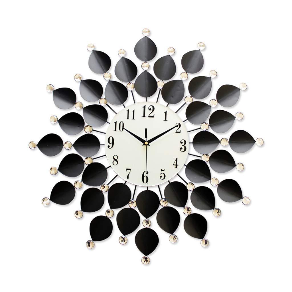 ホームデコレーションクリエイティブパーソナリティウォールクロックJYT、 壁時計ガラスダイヤルアクリルドリル鉄シェル歪みなし/フェージングなし/錆なしヨーロッパの現代のクリエイティブリビングルームミュートクロックブラック(67 * 67 CM) ファッション雑貨   B07R1V9DPL
