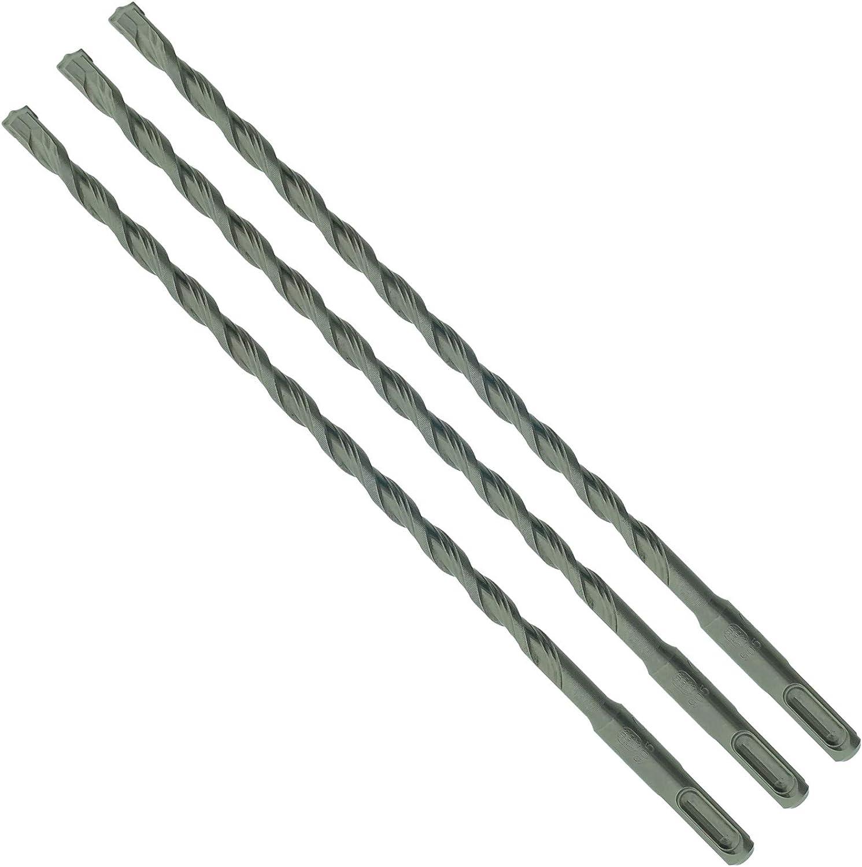 SabreCut SDSC8/_3 Lot de 3 forets SDS Plus pour brique en pierre 8 mm x 260 mm