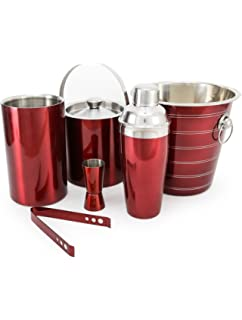 1c37a2f0d King International Stainless Steel Red Bar Set 6 Pieces available at Amazon  for Rs.1999