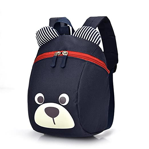 e9012af1daaa Cute Bear Small Toddler Backpack With Leash Children Kids Backpack Bag for Boy  Girl (dark