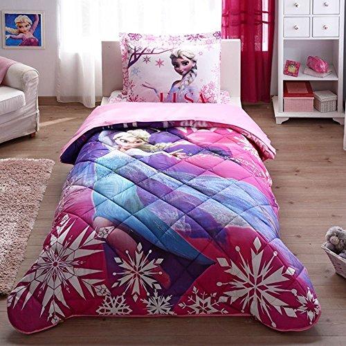 On Sale 100 Cotton Elsa Frozen Bedding Set Girls Comforter Set
