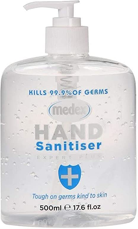 Hand Sanitiser Alcohol Gel Anti Bacterial 500ml With Moisturiser