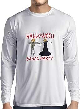 lepni.me Camiseta de Manga Larga para Hombre Disfraces Fiesta de Danza de Halloween Eventos Traje Ideas (XS Blanco Multicolor): Amazon.es: Ropa y accesorios