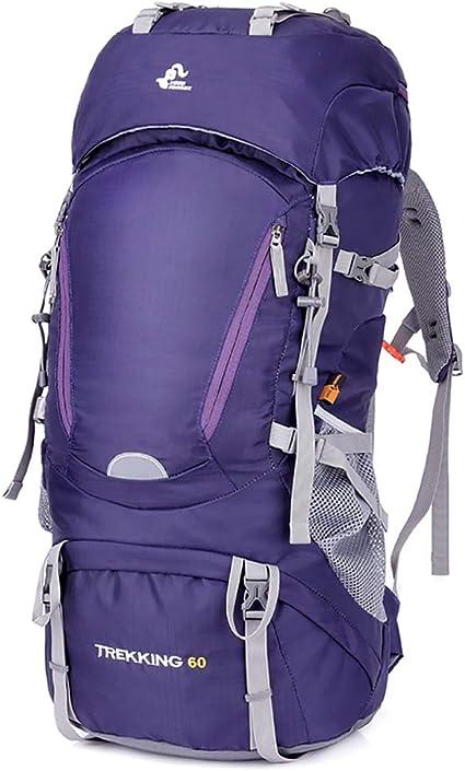 SKYSPER Sac à Dos de Randonnée 60L avec Trou hydratant Imperméable Sac  Grande Capacité pour Escalade Alpinisme Camping Sport Voyage Sac de  Trekking en ...