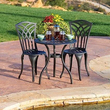 Home Loft Concept Ebbink 3 Piece Chairs U0026 Table Patio Furniture Bistro U0026 Dining  Set,
