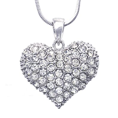 50418e3e6b630 Soulbreezecollection Love Red Heart Necklace Pendant Charm Women Jewelry  (Clear)