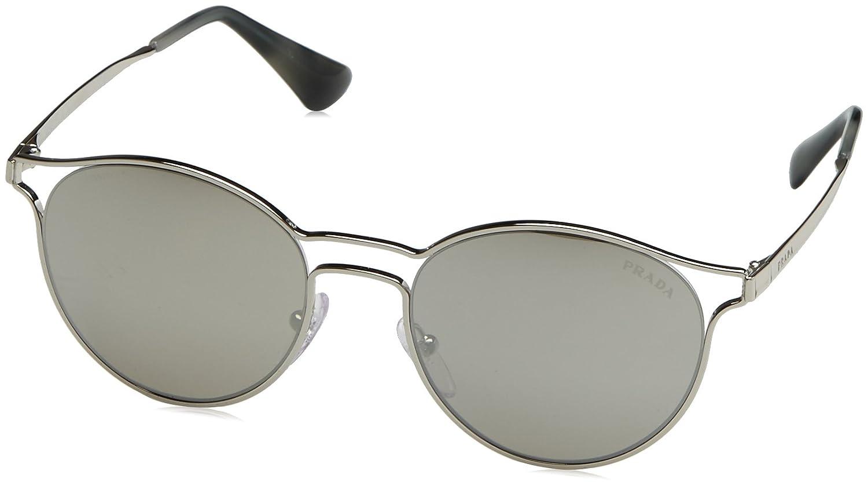 63461b7a5049 Prada Women's 0Pr62Ss 1Ab5S0 53 Sunglasses, Black/Pale Gold/Grey:  Amazon.co.uk: Clothing