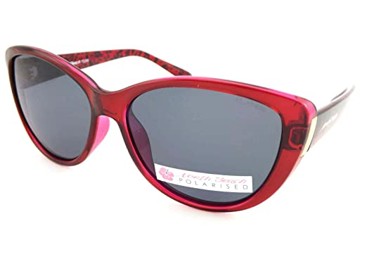 7391e6948249 North Beach Polarized Ynez Ladies Sunglasses Crystal Burgundy 70369:  Amazon.co.uk: Clothing
