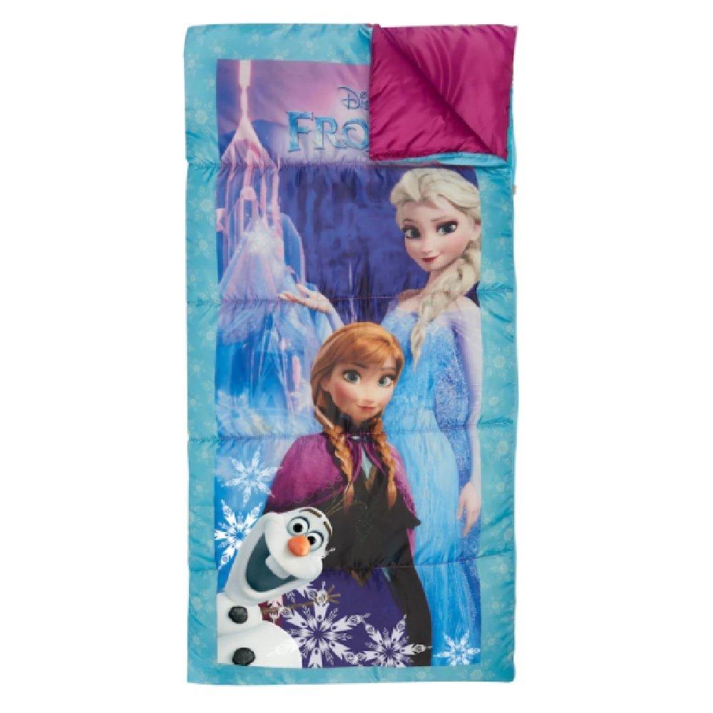 Kids 28'' x 56'' 45-Degree Sleeping Bag (Disney's Frozen Elsa, Anna & Olaf) by Exxel (Image #1)