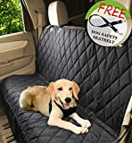 Jespet Luxury Quilted Rear Waterproof Non Slip Backing Seat Cover for Cars Trucks and SUV's- Heavy Duty & Waterproof with Side flaps + A Free Safety Seat Belt Review