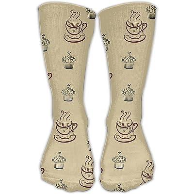 YUANSHAN Socks Coffee Time Women & Men Socks Soccer Sock Sport Tube Stockings Length 11.8Inch